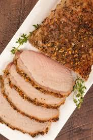 garlic herb crusted boneless pork