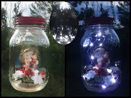 solar jar lights cherub lantern outdoor