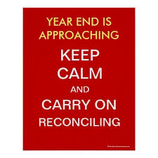 financial year end accounting reconciliations poster zazzle com