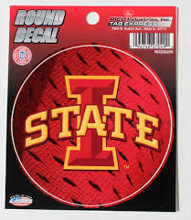 Iowa State University I Logo Round Decal Car Window S