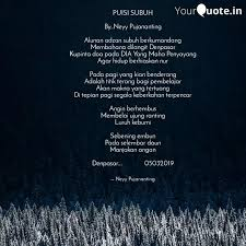 puisi subuh by neyy puj quotes writings by neyy