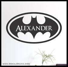 Batman Personalized Logo Superhero Name Vinyl Wall Decal Sold By Decal Drama On Storenvy
