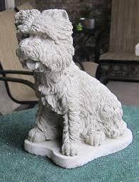 west highland terrier concrete statue