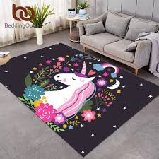 Beddingoutlet Rainbow Unicorn Large Carpets For Living Room Cartoon Rectangle Area Rug For Kids Bedroom Non Slip Floor Mat Decor Carpet Aliexpress