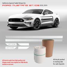 Mustang California Special Stripes Gt Cs Rocker Stripes 2018 2019