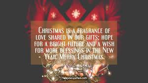 christmas is a fragrance of love shared in our gifts hope for a