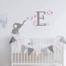Elephant Bubbles Wall Sticker Personalized Custom Name Decal Girls Baby Nursery Vinyl Wall Art Decor Adesivo De Parede We127 Wall Stickers Aliexpress