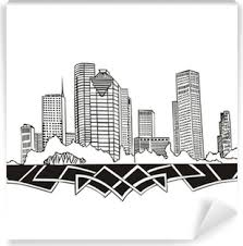 Houston Tx Skyline Wall Mural Pixers We Live To Change
