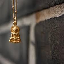yoga jewelry 24k gold dipped buddha