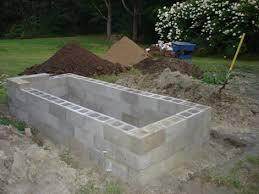 build a concrete block raised bed garden