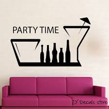 Fun Nightclub Hangout Positive Wall Decal Party Time Wall Sticker For Birthday Party Quotes Wall Art Mural Home Decoration H054 Wall Sticker Stickers Forhome Decor Aliexpress