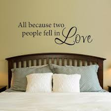 All Because Two People Fell In Love Wall Decal Large Wall Decor Bedroom Bedroom Wall Wall Decals For Bedroom