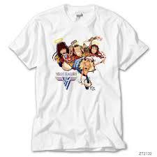 Van Halen Cartoon Beyaz Erkek Tişört Fiyatları ve Özellikleri
