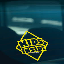 Kids Inside S2 Children On Board Warning Funny Car Window Sign Vinyl Sticker Ebay