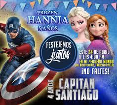 Capitan America Y Frozen Frozen Fiesta Pancho Villa