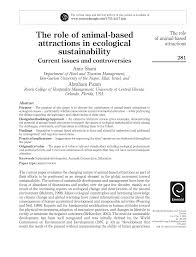 PDF) The role of animal-based attractions in ecological sustainability:  Current issues and controversies