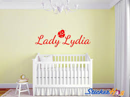 Personalized Ladybug Girls Name Monogram 1 Wall Decal