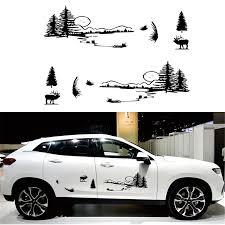2pcs Hunt Forest Reindeer Decal Hunting Buck Sticker Hollow Sticker Car Vinyl Decal Car Stickers Aliexpress