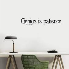 Amazon Com Peruil Quote Vinyl Wall Decal Sticker Art Removable Words Home Decor Genius Is Patience For Reading Room Home Kitchen