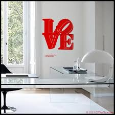 Nyc Wall Decal Red Love Sculpture Of Robert Indiana New Etsy