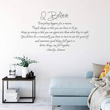 Amazon Com Marilyn Monroe Quote I Believe Vinyl Wall Decal Pick Your Size X Large 35 X 60 Kitchen Dining