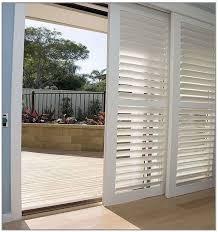 shutters sliding glass doors