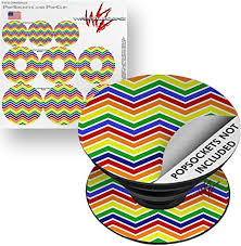 Amazon Com Decal Style Vinyl Skin Wrap 3 Pack For Popsockets Zig Zag Rainbow Popsocket Not Included By Wraptorskinz Everything Else