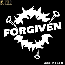 Etie Forgiven Jesus God Christian Car Truck Home Decal Window Wall Laptop Vinyl Sticker Car Accessories For Vw Bts Car Stickers Aliexpress
