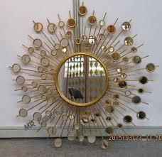 round metal mirror wall decor sunburst