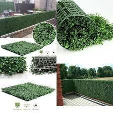 Garden Fencing Supplies Artificial Hedge Fence Ivy Leaf Garden Grass Mat Screen Wedding Plant Wall Decor Restaurantecarlini Com Br