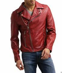 mens biker leather jacket motorcycle