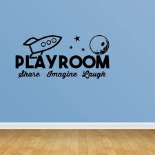 Wall Decal Quote Playroom Share Imagine Laugh Vinyl Sticker Home Decor Pc541 Walmart Com Walmart Com