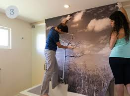 wall mural on a textured wall