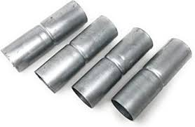 4 Count Chain Link Fence Top Rail Sleeves Galvanized Steel 1 5 8 X 7 Amazon Com
