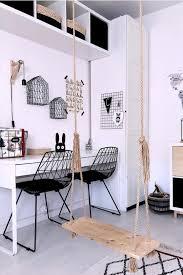 Set Of 2 Metal Accent Chairs Black Harlan In 2020 White Kids Room White Desk Black Chair White Room Desk
