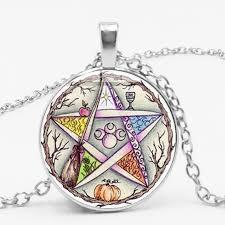 new esoteric pentagram necklace vintage