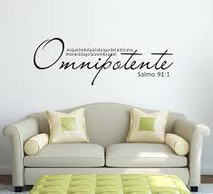 Omnipotente Salmo 91 1 Calcomania De Vinilo Pared Espanola Etsy Vinyl Wall Decals Vinyl Wall Vinyl Decals