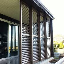aluminum sliding patio shutter door