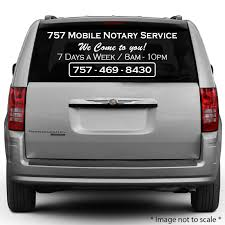 757 Mobile Notary Service 757 469 8430 Https Stickertitans Com Rear Window Decal For Your Car Van Rear Window Decals Rear Window Glass Window Decals