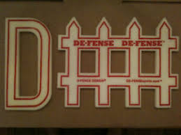 D Fence Football Basketball Foam Signs De Fense Defense Ebay
