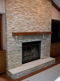 artisan stone and tile fireplace
