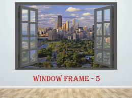 Chicago Decal Chicago Sticker Chicago Cityscape 3d Window Decal Vinyl Sticker Chicago Prints Large Decal Wall Decal S Chicago Cityscape City Prints Large Decal