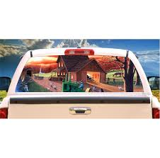 Country Living Window Mural Tint Decal Graphic Custom Tire Covers