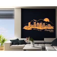 Phoenix City Skyline Wall Decal Cityscape Wall Decal Sticker Mural Vinyl Art Home Decor 4284 Yellow Green 47in X 21in Walmart Com