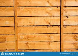 New Wooden Fence Panel Stock Image Image Of Sunlit 134668989