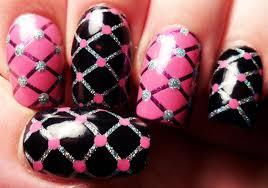 Sparkly fishnets nail art | Hair & Beauty at Repinned.net