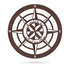 The Perfect Gift For Mom Lost Without Mom Compass Wall Art Type A Realsteel Center