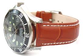 brown crocodile watch strap for omega
