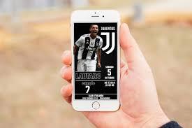 Invitacion Tarjeta Juventus Digital Cumpleanos 160 00 En