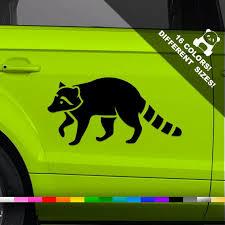 50 Off Raccoon Car Vinyl Decal Racoon Window Or Bumper Etsy